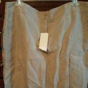 NWT Eileen Fisher natural linen aline skirt. PL